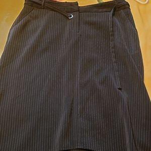 Larry Levine stretch asymmetrical skirt